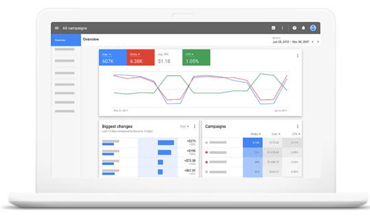 Google AdWords新版本界面