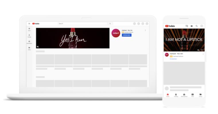 Google使YouTube标头广告可供所有广告商使用